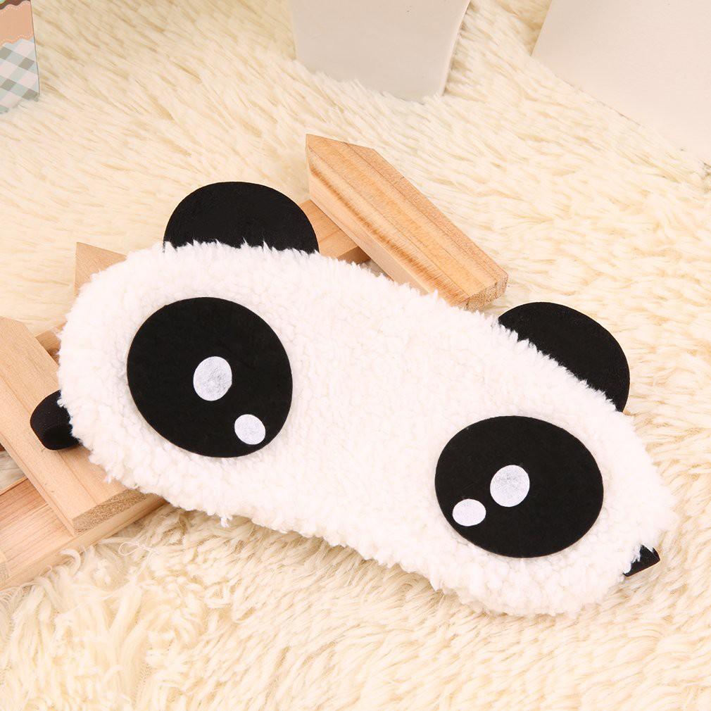 Masker Wajah Gambar Panda Lucu Untuk Tidur Malam Hari