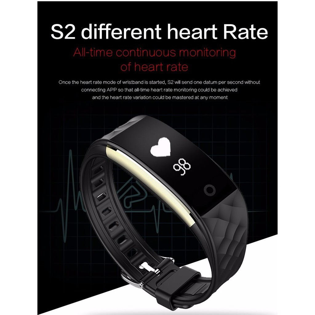 Xiaomi Mi Band 2 Smart Bracelet With 042 Oled Displayheart Rate Display Original Hitam Wristband Heart Monitor For Shopee Indonesia