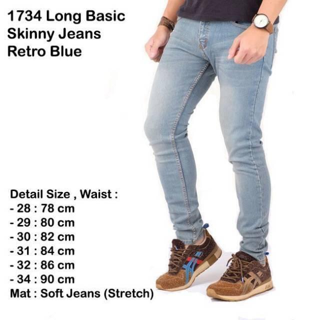 celana jeans panjang cowok pria / celana panjang jeans pria blue retro