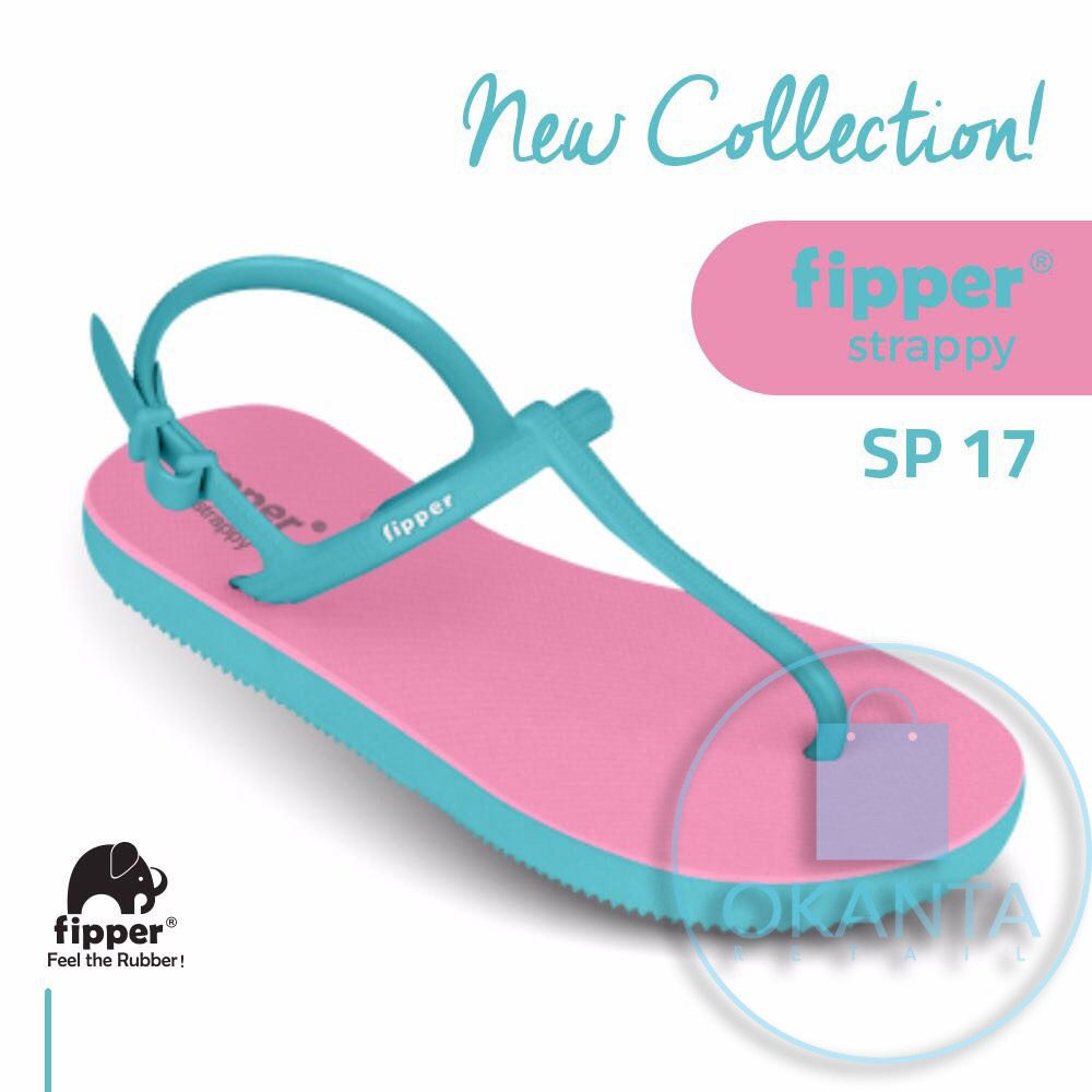 685540cbb Sandal Fipper Slim - Pink Black  SL 06  - ORIGINAL