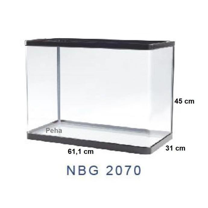 Produk Unggulan] Aquarium Ikan - Akuarium Nisso Manta - Kaca Lengkung P 60 Cm Nbg 2070