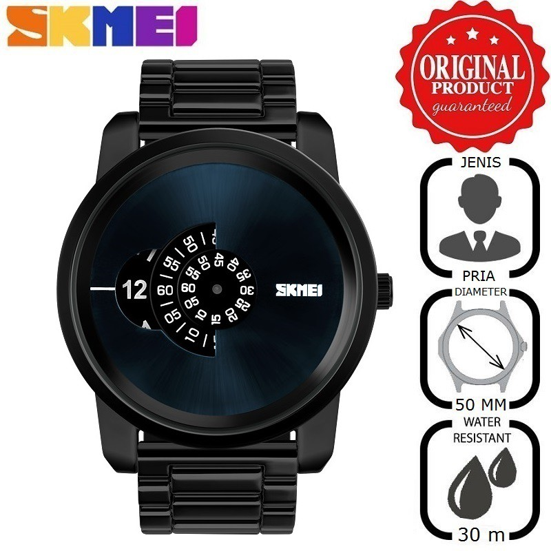Jam Tangan Pria Elegan Original SKMEI 9121 Stainless Water Resist   Anti  Air 30M  10ed186240