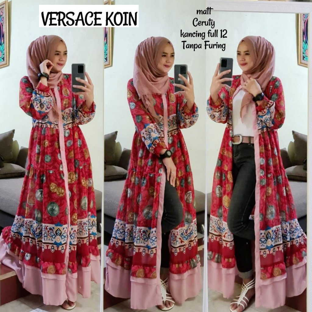 Dress Versace Koin/baju gamis