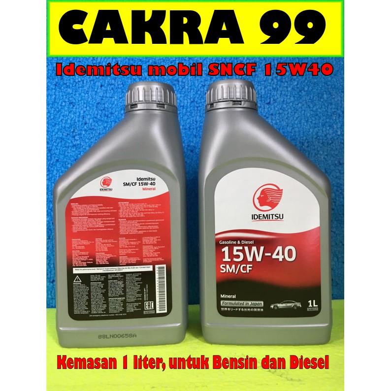 OLI mesin MOBILbensin dan diesel IDEMITSU SMCF 15W40 kemasan 1 Liter dari JEPANG   Shopee Indonesia