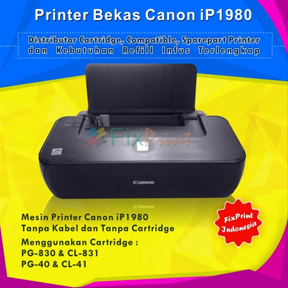 Jual Printer Bekas Canon Pixma Ip1980 Murah Shopee Indonesia