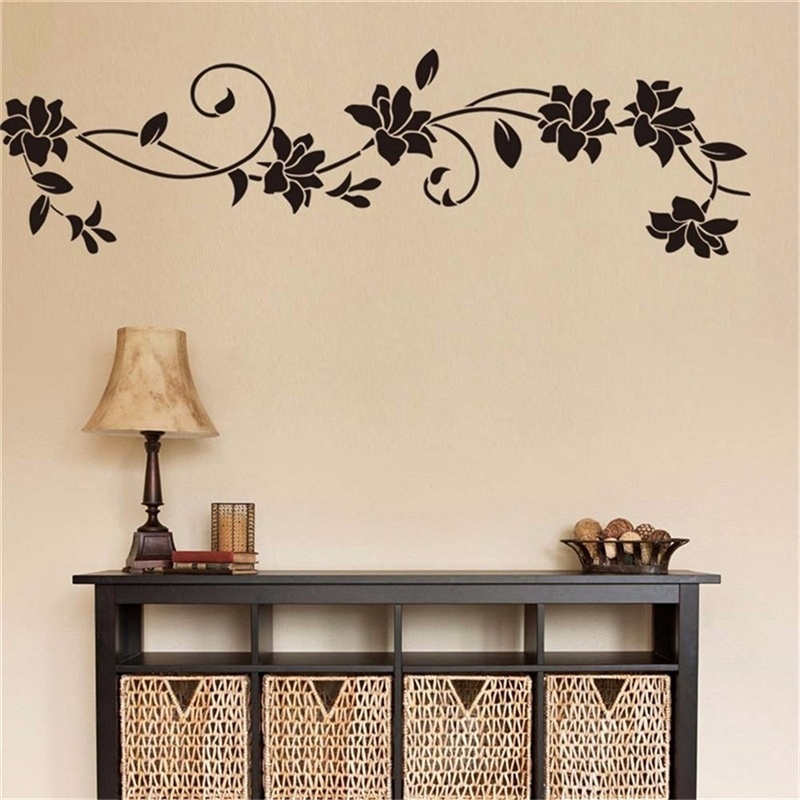 Flower Vine Diy Decoration Vinyl Removable Wall Stickers Art Decals For Bedroom Room Home Decor Shopee Indonesia