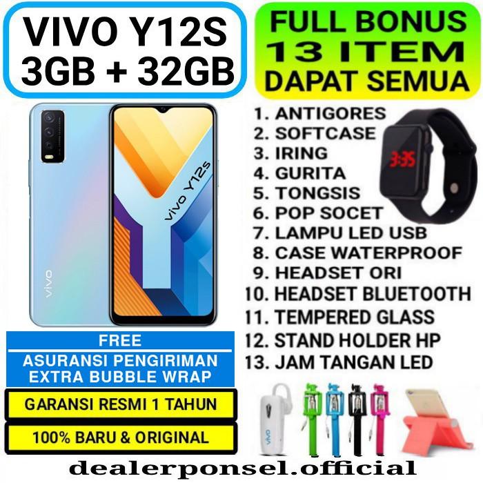 VIVO Y12s 3/32 GB RAM 3GB ROM 32GB GARANSI RESMI | Shopee ...