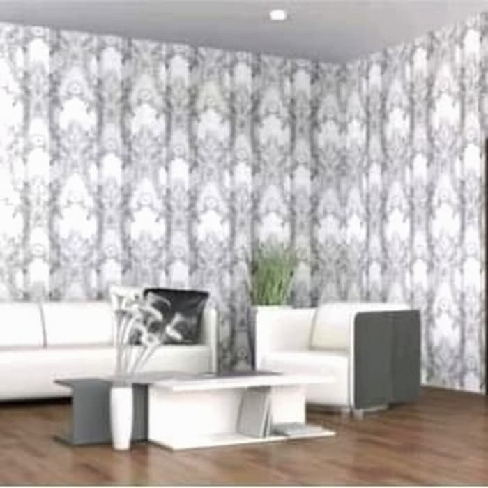Wallpaper Batik Garis Silver Wallpaper Dinding 10m X45cm Shopee