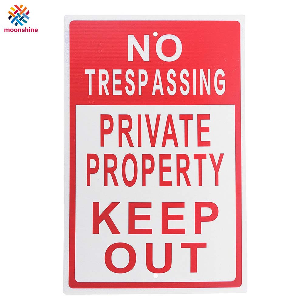 Stainless Steel No Trespassing Sign