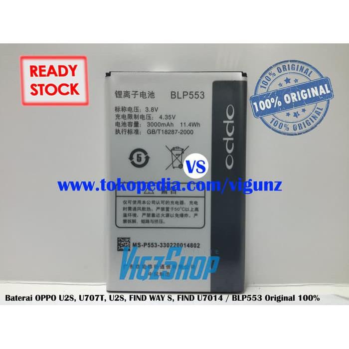 BATERAI VIZZ DOUBLEPOWER OPPO BLP553 BLP-553 OPPO U707 U707T --- BATERI HPLUCU   Shopee Indonesia