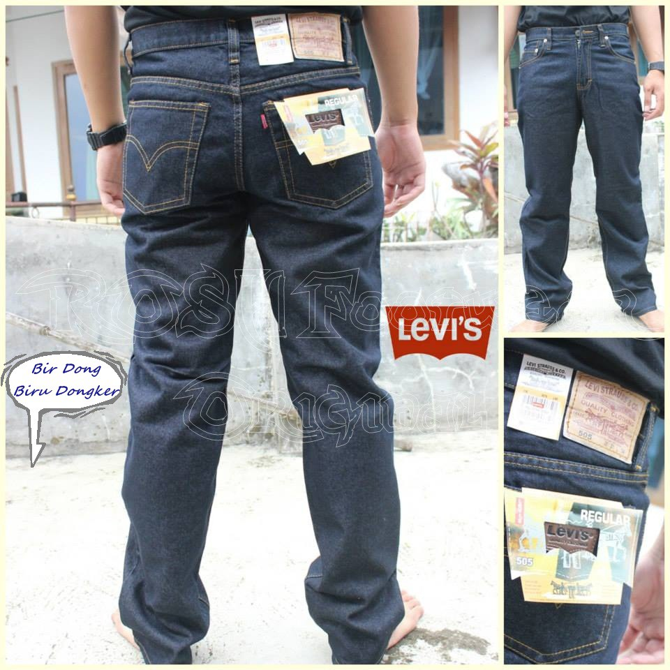 Celana Jeans Levis Pria Model Standar Size 27 32 Shopee Indonesia Fashion Panjang Biru