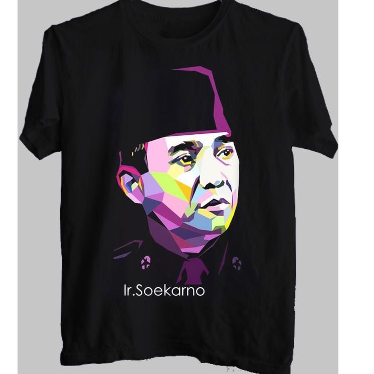 Ben362 Kaos 3d Distro Satuan Tokoh Soekarno Vector Original Presiden Ri Over Shopee Indonesia