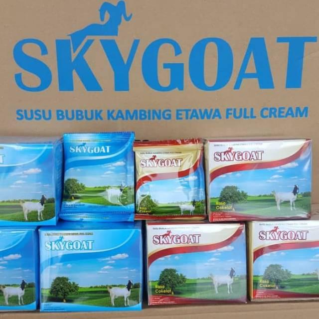 Susu kambing etawa sky goat 1 box isi 10 saset skygoat original full cream untuk anak diatas 2 tahun | Shopee Indonesia