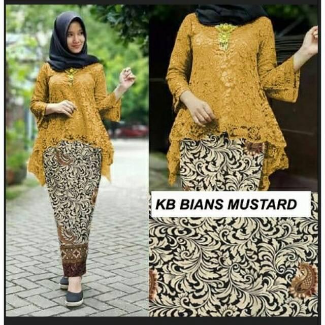 Kebaya Bianca Set Brokat Mustard Kebaya Rinjani Kebaya Murah Baju Seragam Baju Pesta Baju Kondangan
