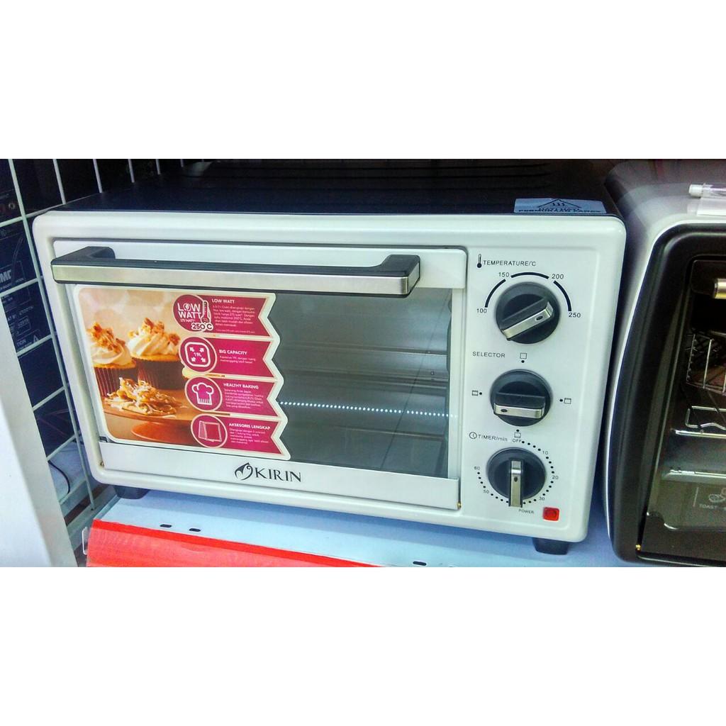 Kirin Oven Elektrik Low Watt Electric Kapasitas 19 Liter Kbo 190lw 190raw L Putihhitam Khusus Gosend Shopee Indonesia