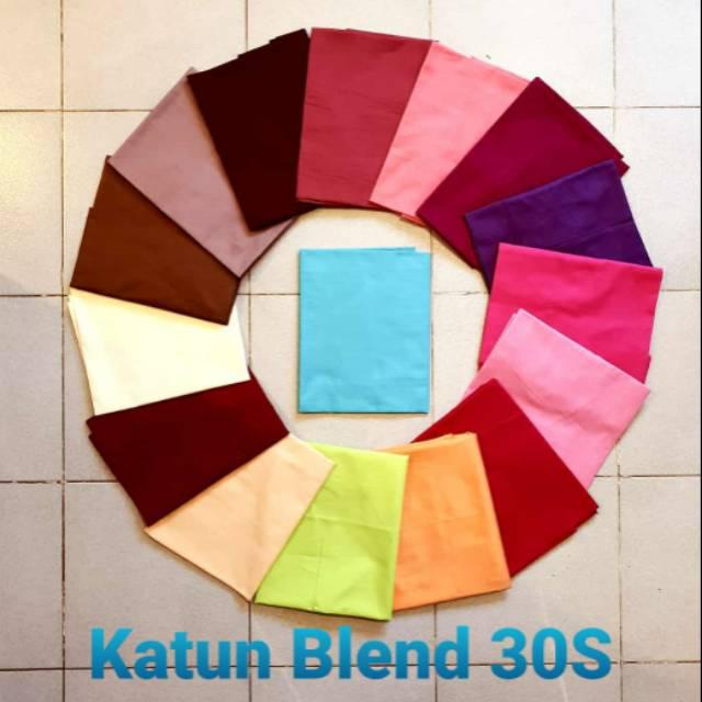 Bahan kain katun/cotton Blend 30S Reaktif meteran grosir ...