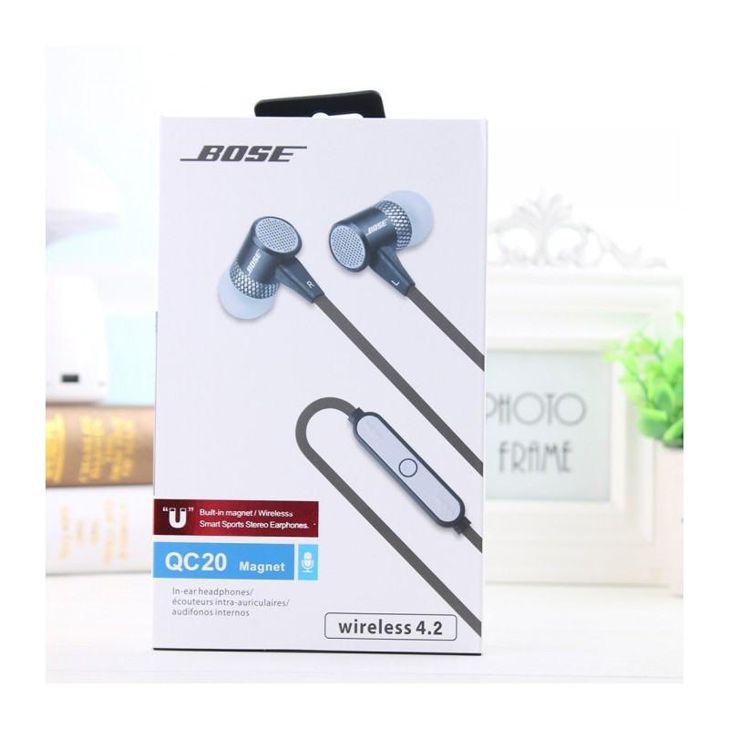 Headset BOSE QC-20 Magnet | Wireless Bluetooth Sports Stereo | OEM | Shopee Indonesia