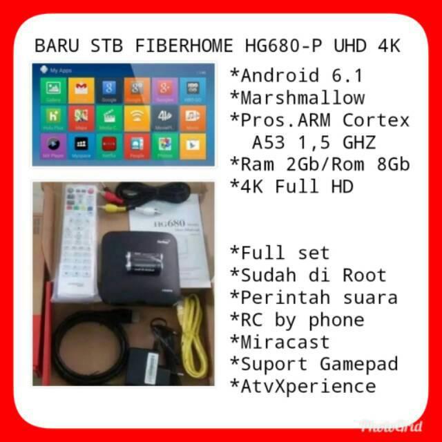 ANDROID TV BOX FIBERHOME BARU HG680-P FULL APLIKASI - ROOTED