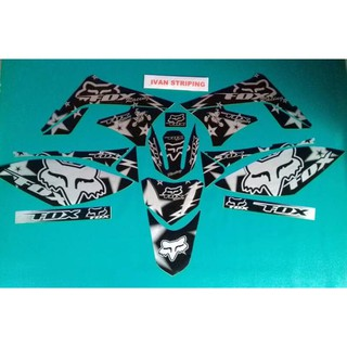 stiker motor striping motor variasi kawasaki klx fox army | Shopee Indonesia