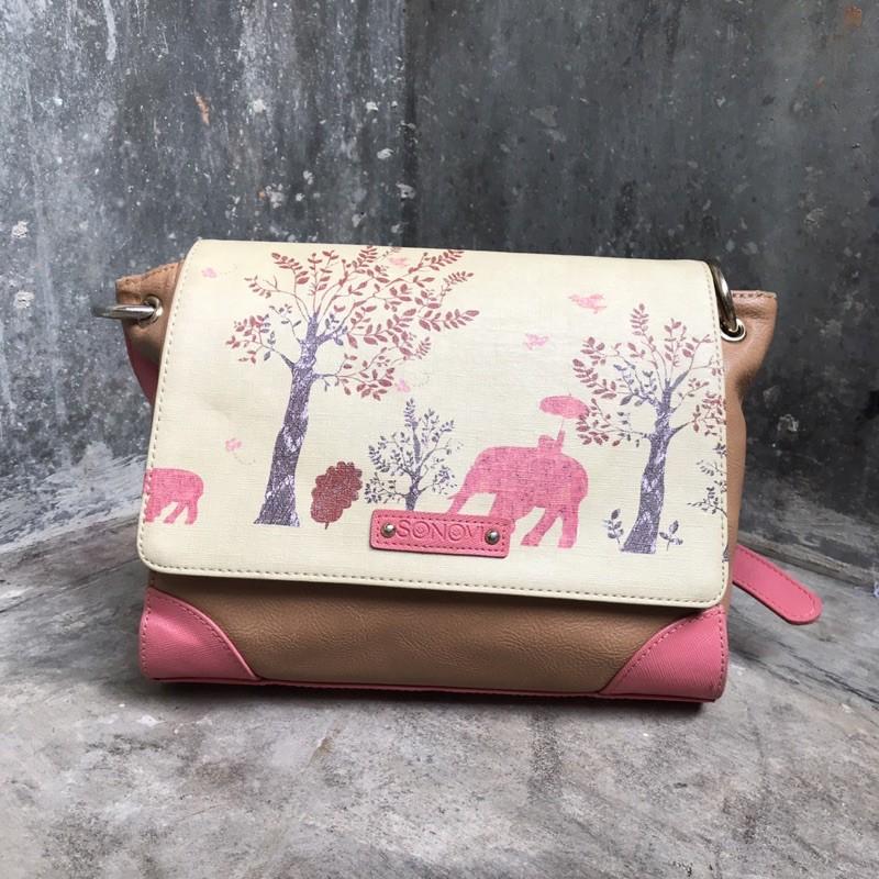 [AUTH] Sonovi art sling bag preloved