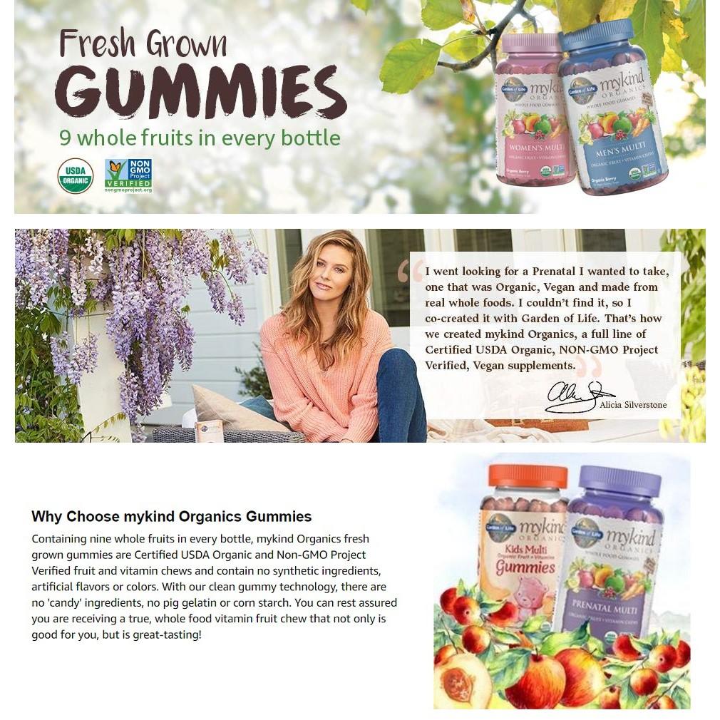 Garden Of Life Mykind Organics Prenatal Gummy Vitamins Organic Berry 120 Gummies Shopee Indonesia