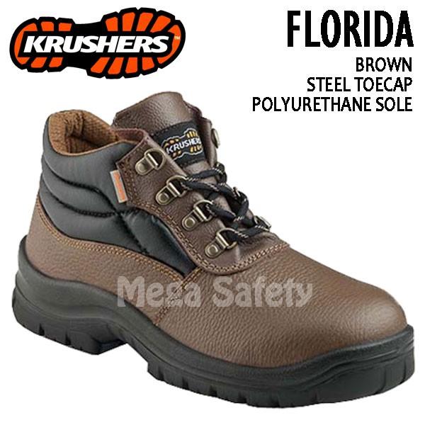 9356dec23ed Krushers Florida Brown Sepatu Safety Shoes