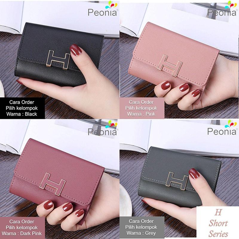 Peonia - Dompet Wanita Kecil Lipat Import - Korea Fashion Style - V Short | Shopee Indonesia