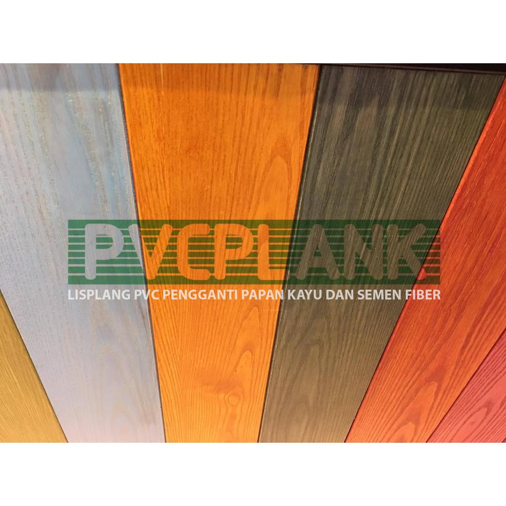 Lisplang Lisplank Pvc Plank Warna Abu Muda 200 X 8 X 4000 Mm