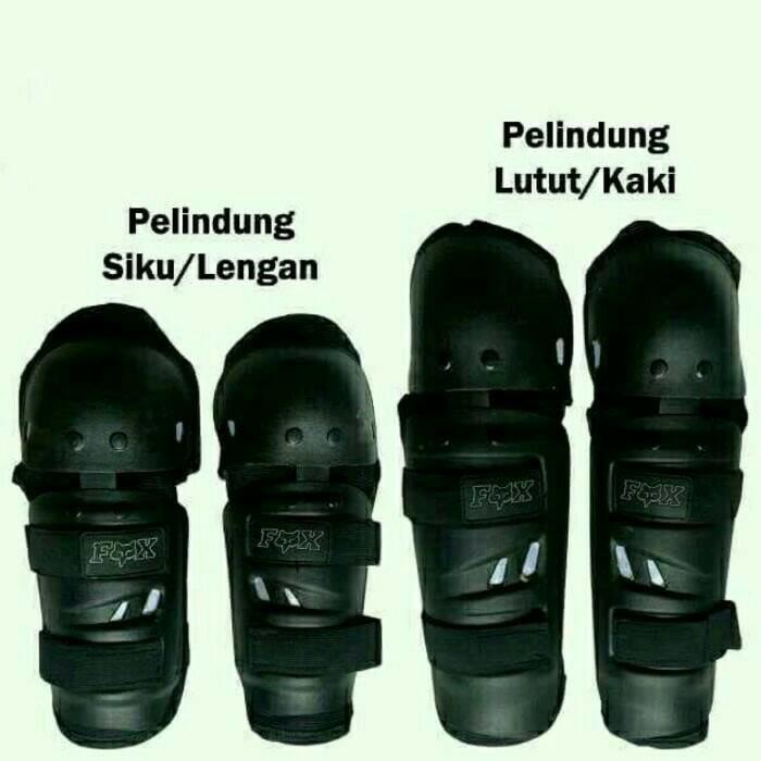 SALE Decker Fox Sharp / Lancip PUTIH / White Pelindung Siku Dan Lutut   Shopee Indonesia