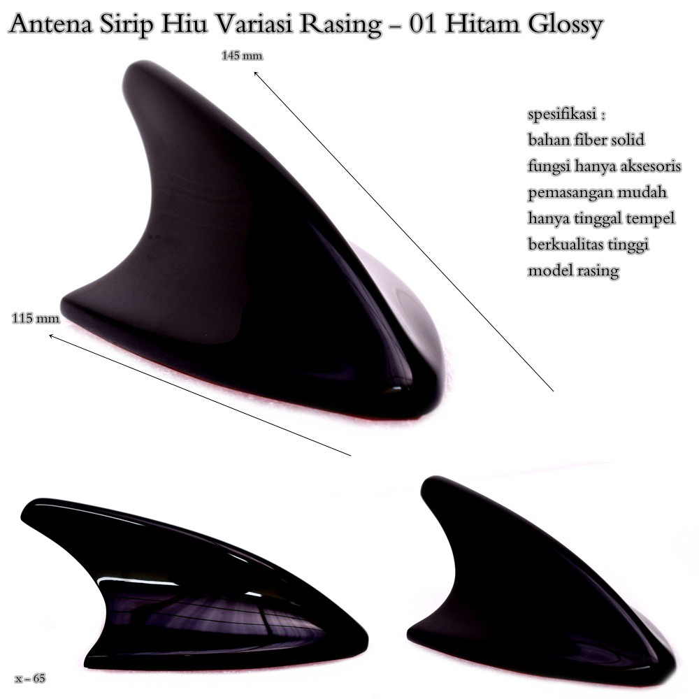 Antena Sirip Hiu Shark Fin Hybrid Js Racing High Quality Shopee Universal Sebagai Pengganti Asli Dan Berfungsi Radio Indonesia