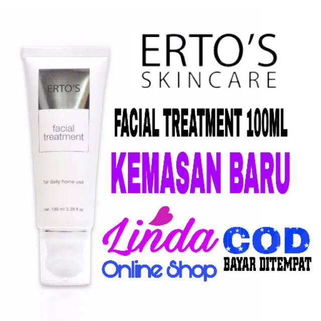 Bisa Cod Ertos Facial Treatment Original Kemasan Baru Sabun Cuci