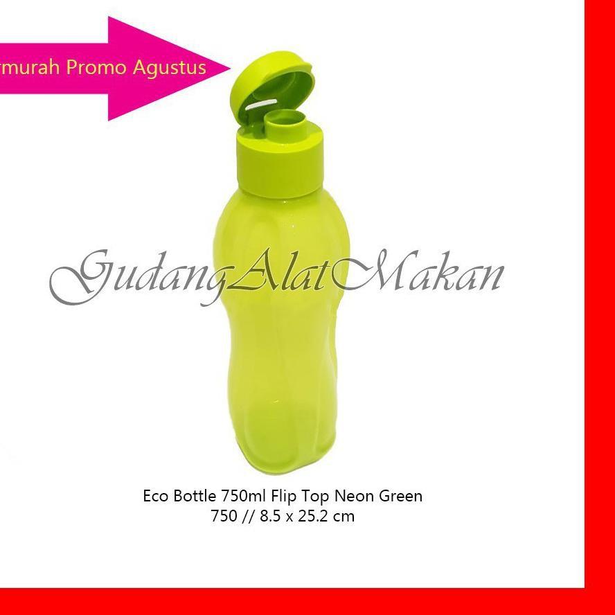 【Hot Sale】 Eco Bottle 750ml Hijau Neon tempat minum botol air CFF7