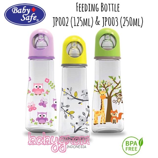 Baby Safe Feeding Bottle JS001 125ML / botol susu bayi / BOTOL SUSU BAYI BABY SAFE   Shopee Indonesia