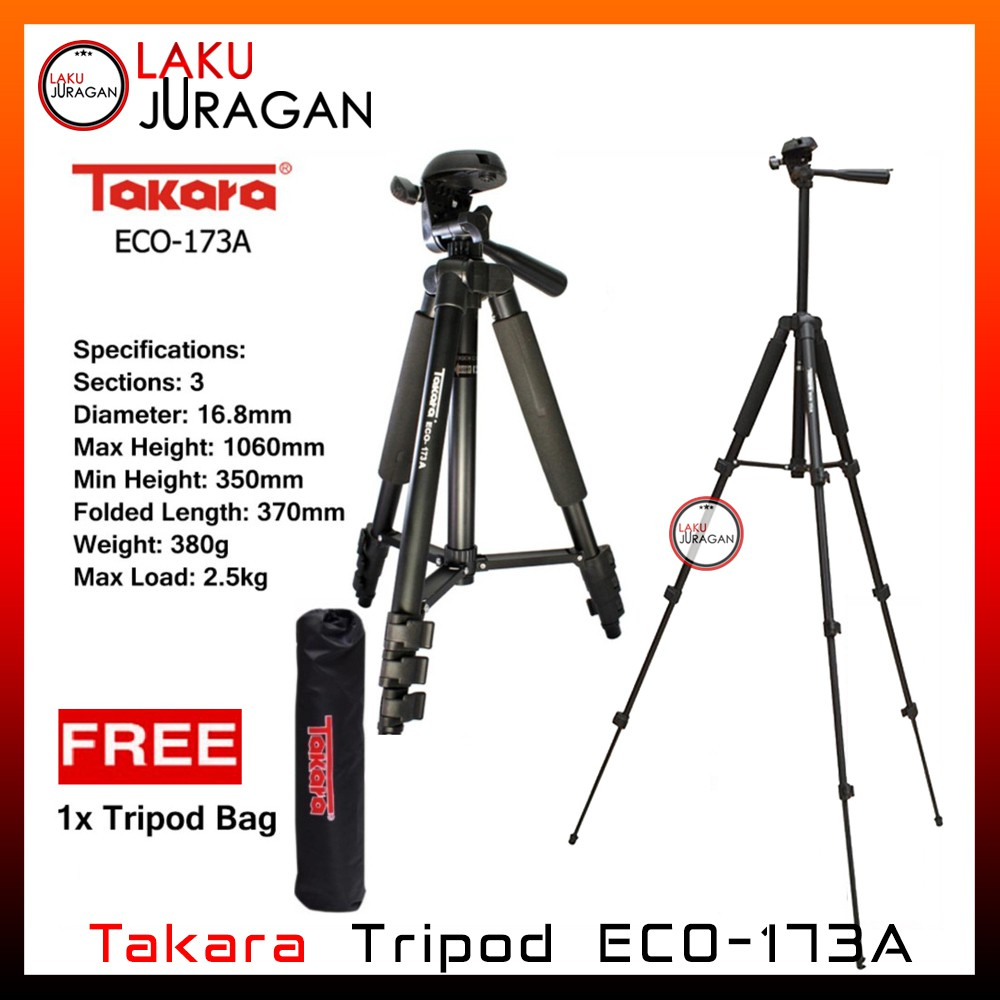 Tripod Takara Eco 173a Shopee Indonesia 196a
