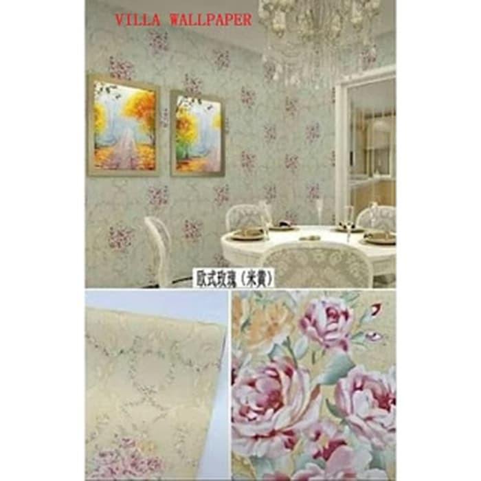 Jual Wallpaper Sticker Dinding Medan Murah Bunga Mawar D