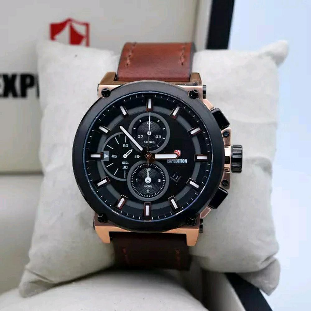 Jam Tangan Expedition E 6755 Full Black Original Shopee Indonesia Pria 6381 Mcbtbba Silver Hitam