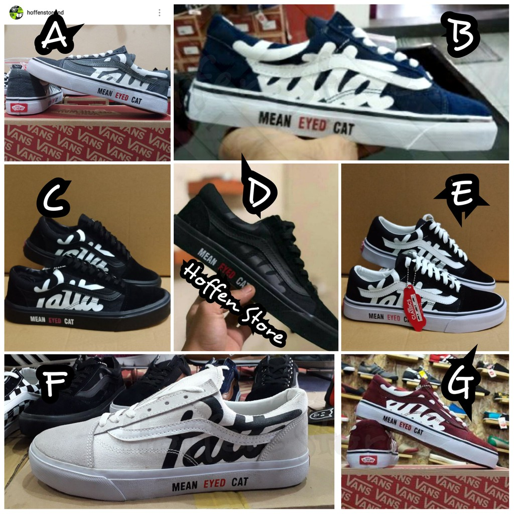 Sepatu Vans Oldskool PATTA X Mean Eyed Cat Premium Quality  61fc674595