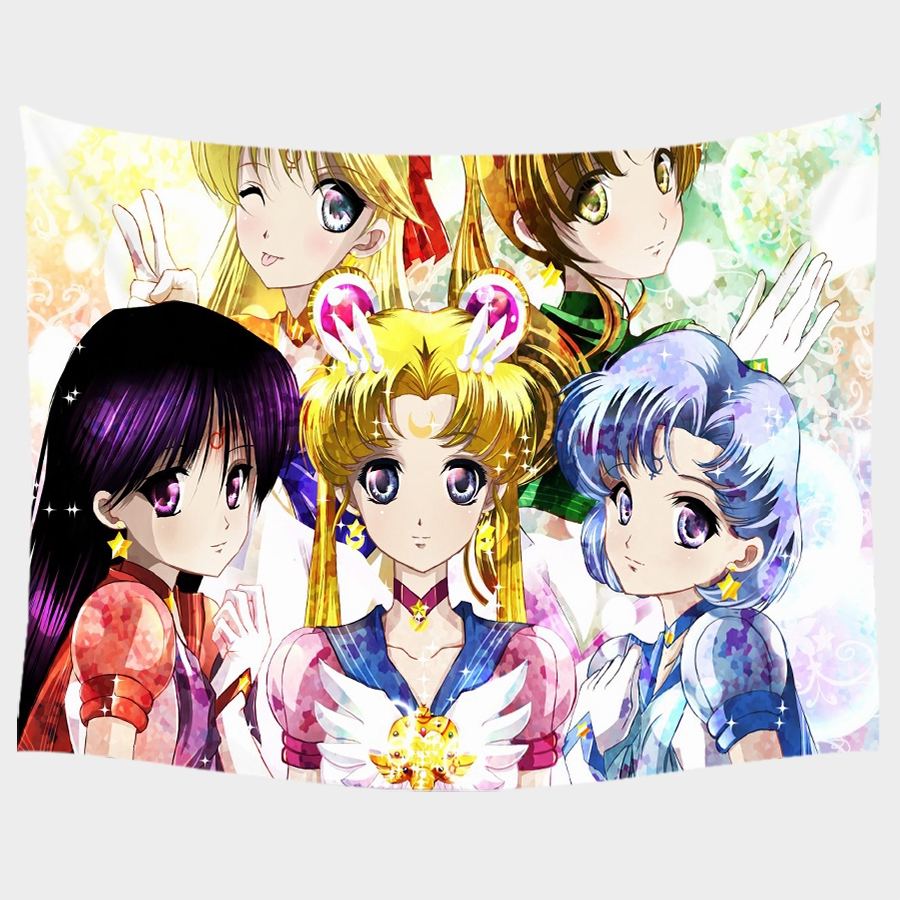 Anime Sailor Moon Tapestry Wall Home Decor 150cm 200cm 150x130cm