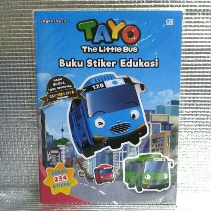 Tayo The Little Bus Buku Stiker Edukasi By Iconix Shopee Indonesia