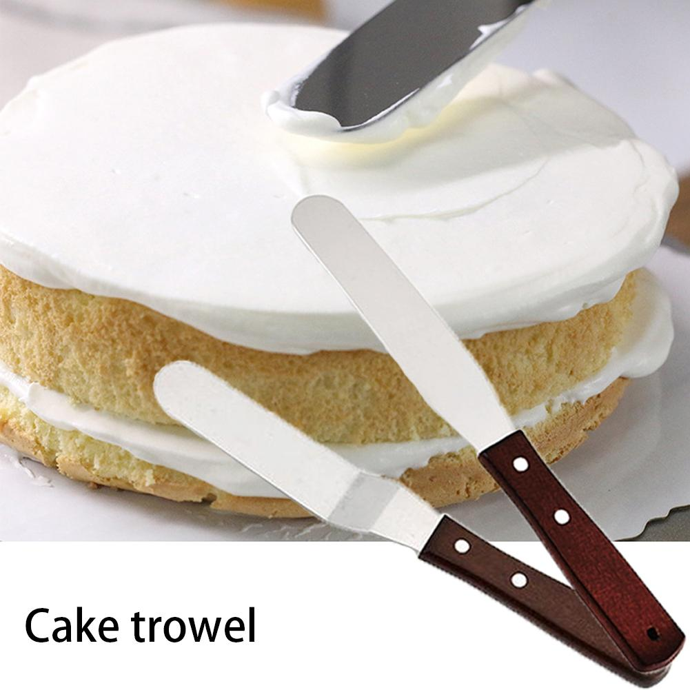 Hot 6 Inch Stainless Steel Cake Spatula Butter Cream Icing Frosting Knife Smoother Kitchen Pastry Cake Decoration Tools Shopee Indonesia