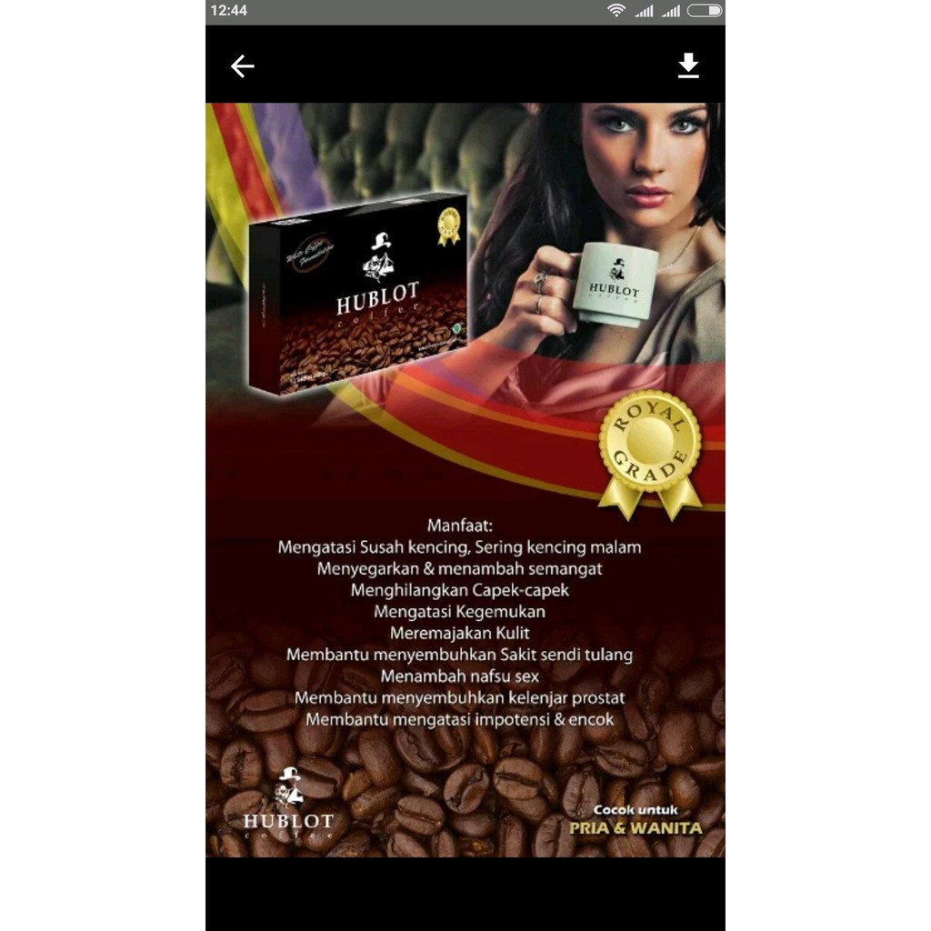Kopi Kesehatan Shopee Indonesia Limmit U One 10 Sachet Box Stamina Pria