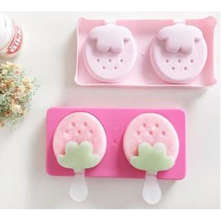 CETAKAN ES KRIM ES LOLI LOLIPOP BENTUK STRAWBERRY ICE POP MAKER HPD069 - PINK MUDA | Shopee Indonesia