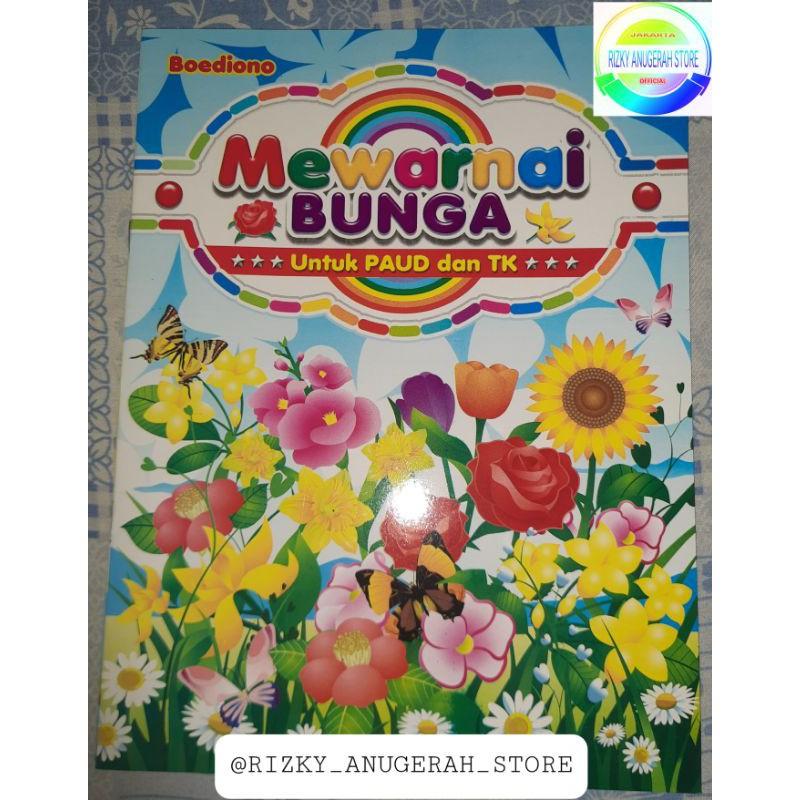 Buku Belajar Mewarnai Bermacam Bunga Paud Dan Tk Shopee Indonesia