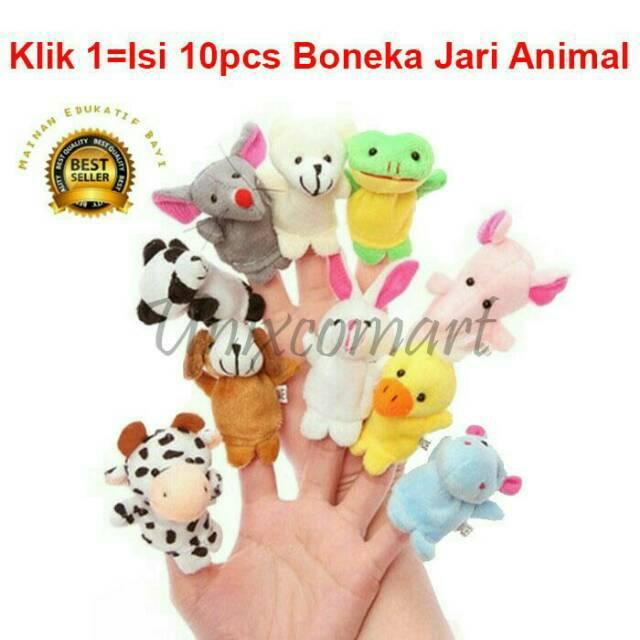 Unik Boneka Jari Binatang Finger Puppet 3D Animal Impor Bahan Bagus Mainan  Edukasi Bayi Murah  06fcb2d66b