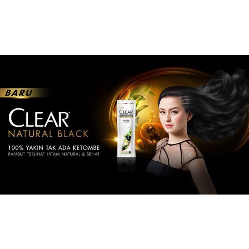 CLEAR  NATURAL BLACK ANTI DANDRUFT FREE SISIR KRAMAS 170ml-3