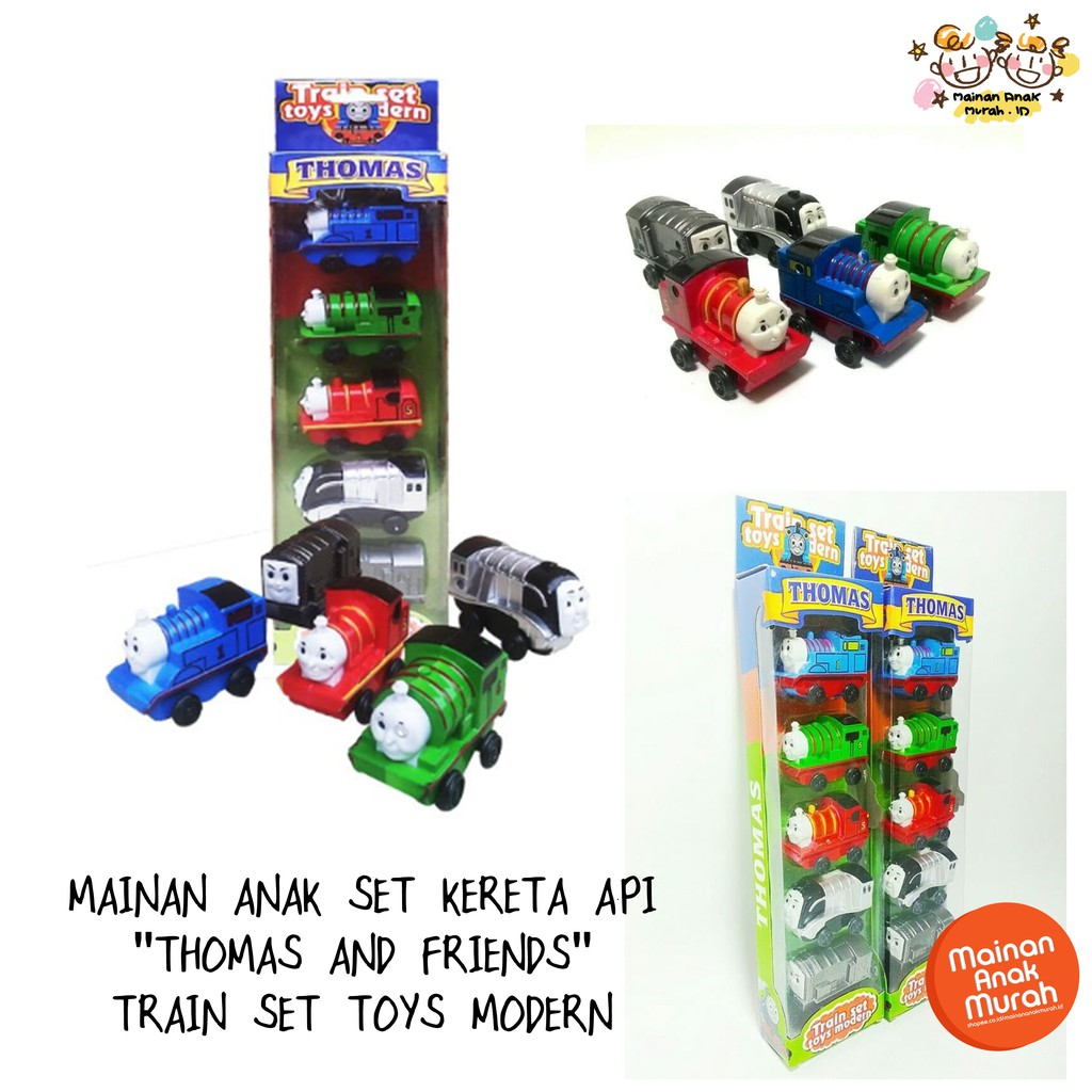 Mainan Set Kereta Api Thomas Train Set Toys Modern 5 Pcs Pull Back
