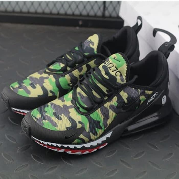 huge selection of f075e fe98f sepatu Nike Air Max 270 x Bape Green BNIB