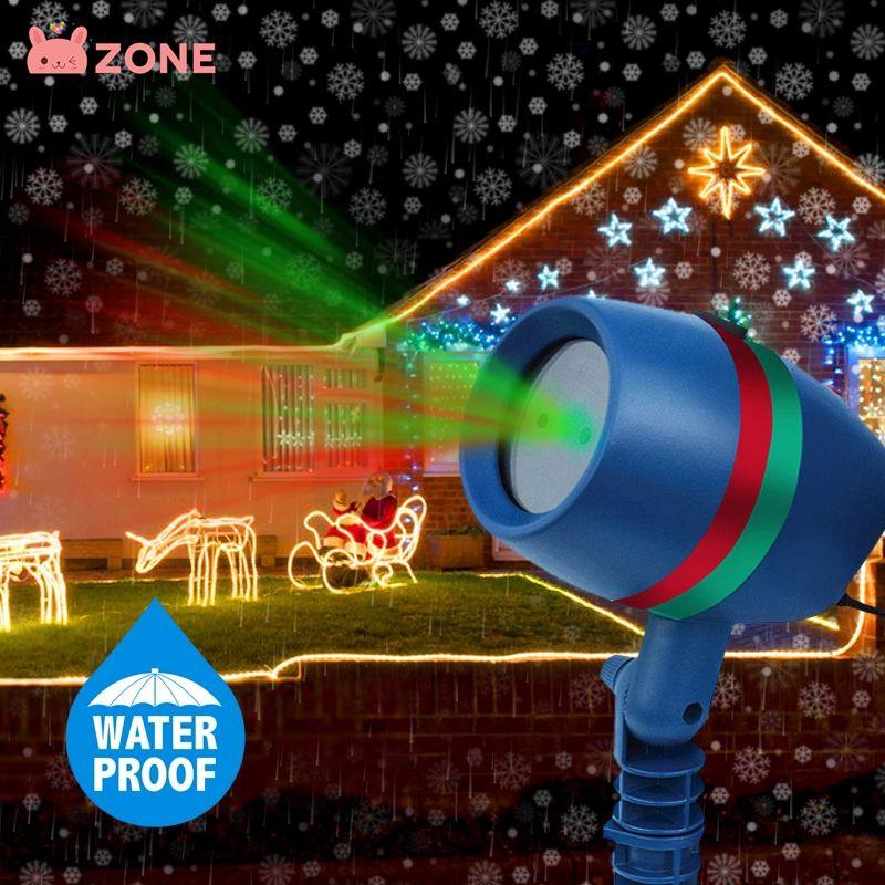 Zone Lampu Laser Proyektor Led 220v Bentuk Snowflake Untuk Taman Outdoor Natal Shopee Indonesia