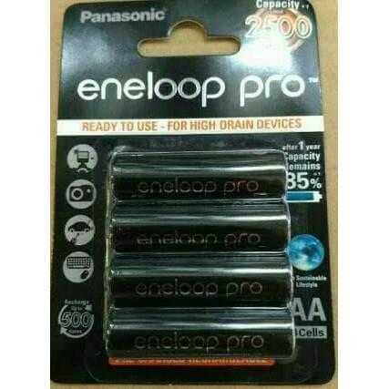 Baterai Kamera / Eneloop Pro Baterai A2 Aa 2500 Mah Panasonic 4 Pcs .