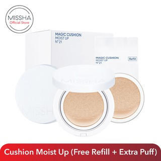 Missha Magic Cushion Moist Up Special Set (Free Refill + Extra Puff)_Clearance Sale Exp Sept 2021 thumbnail